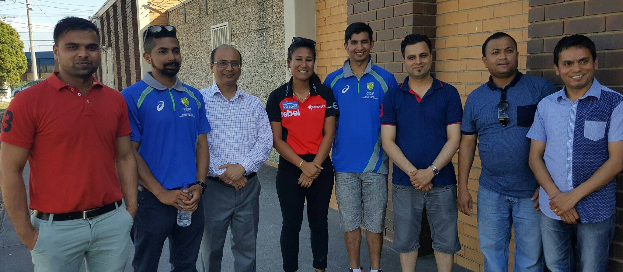 Rubina Chhetry and Sunam Gautam with NAV Current and Past Officials.