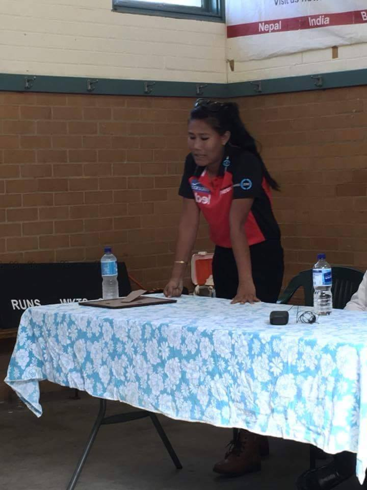 Rubina Chhetry interacting with the community members.